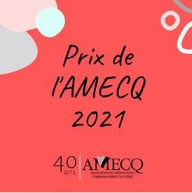 Gala des prix de l'AMECQ 2021 Vision croisée encore primé  cette année !
